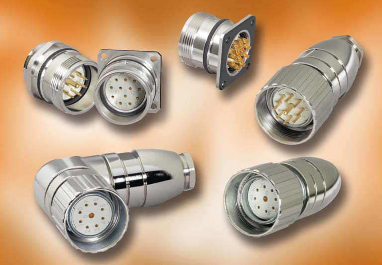 Series 623 M23 Locking Metal Connectors, Shielded, IP 67