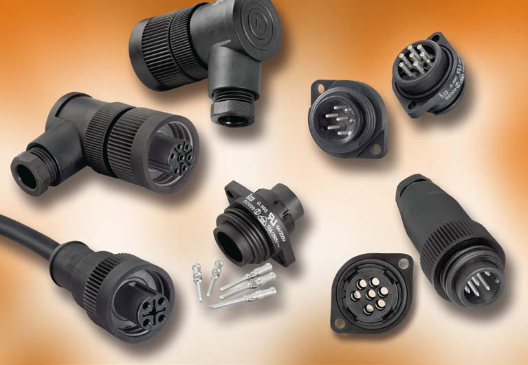 Series 693 Plastic Connectors with RD 24 Locking, UL-rated, IP 67