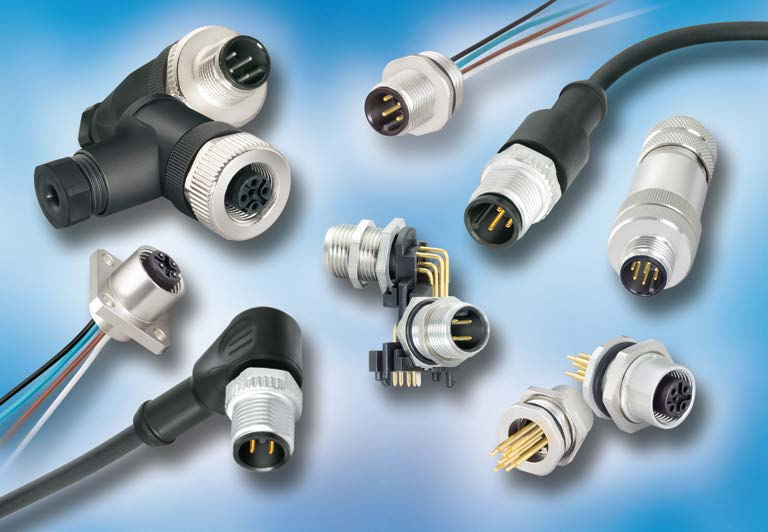 Series 713 M12 Connectors, Shielded, IP 67, UL