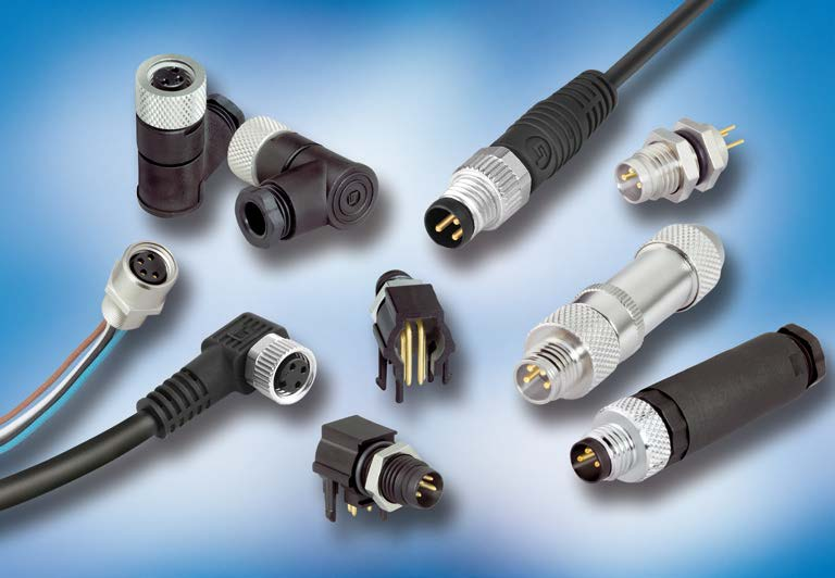 Series 768 M8 Connectors, Shielded, IP 67